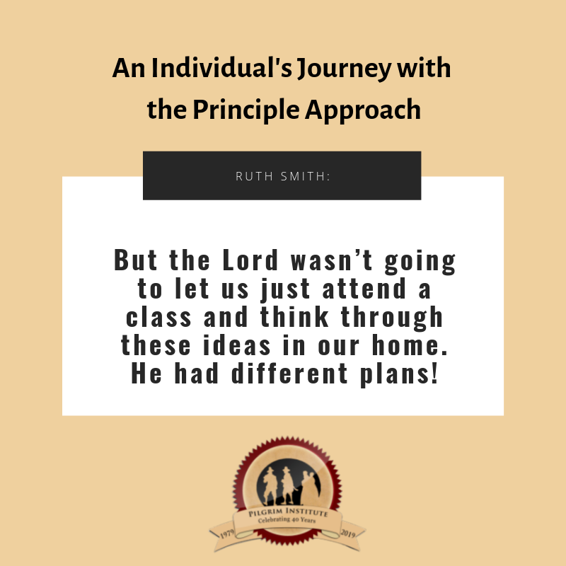 An Individual's Journey with the Principle Approach