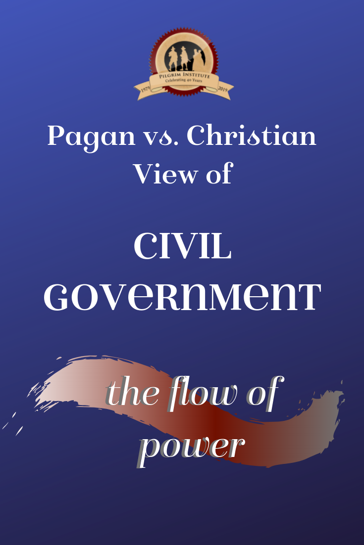 The flow of power in civil government. Christian vs. Pagan View of Man and Government.