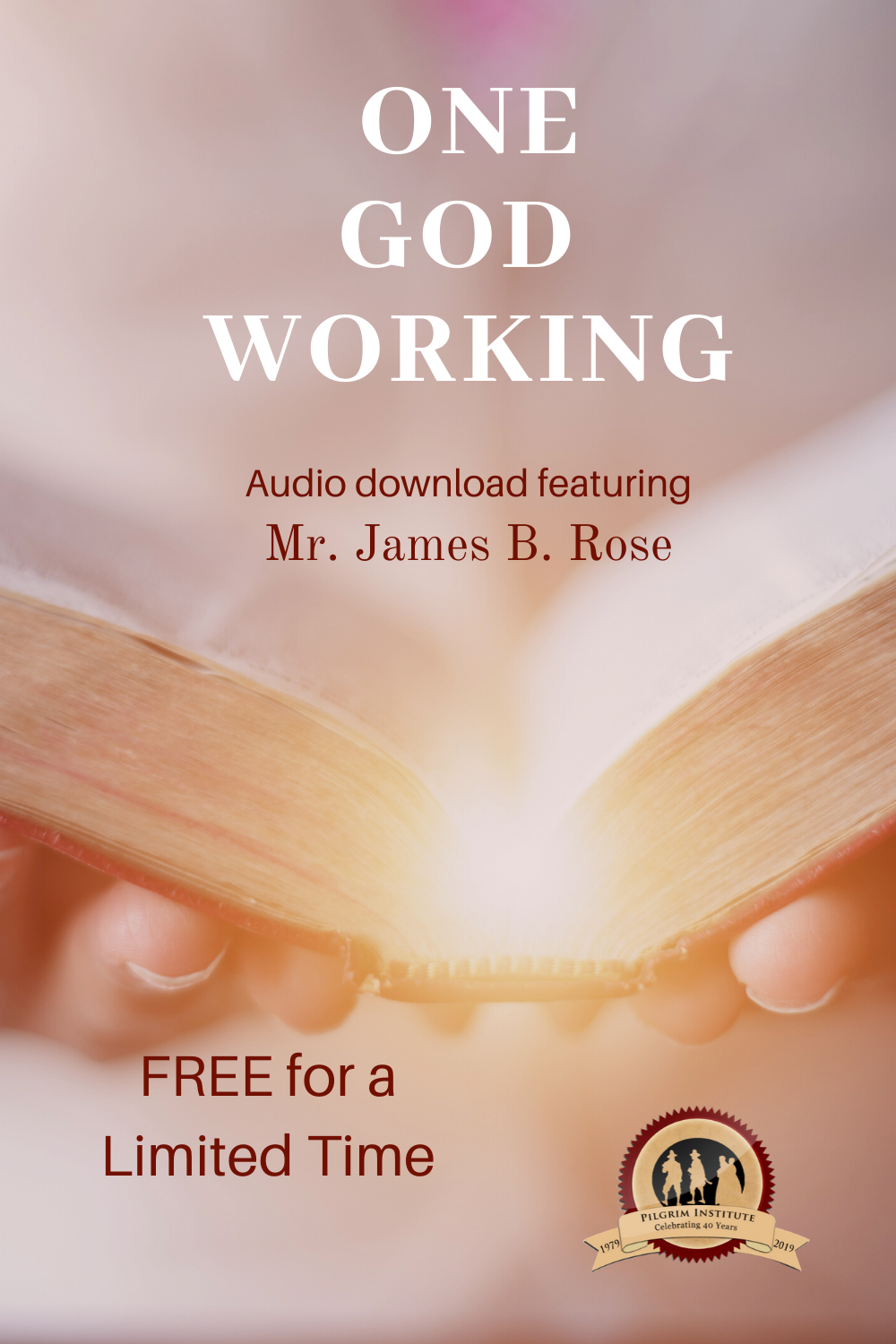 This presentation purposes to quicken the American Christian to discern the Providence of God and to recognize only One God Working in their heart, home school, church and nation. Mr. Rose will endeavor to illustrate why the principle of only One God Working is so full of peace, joy, hope and power for the believer.